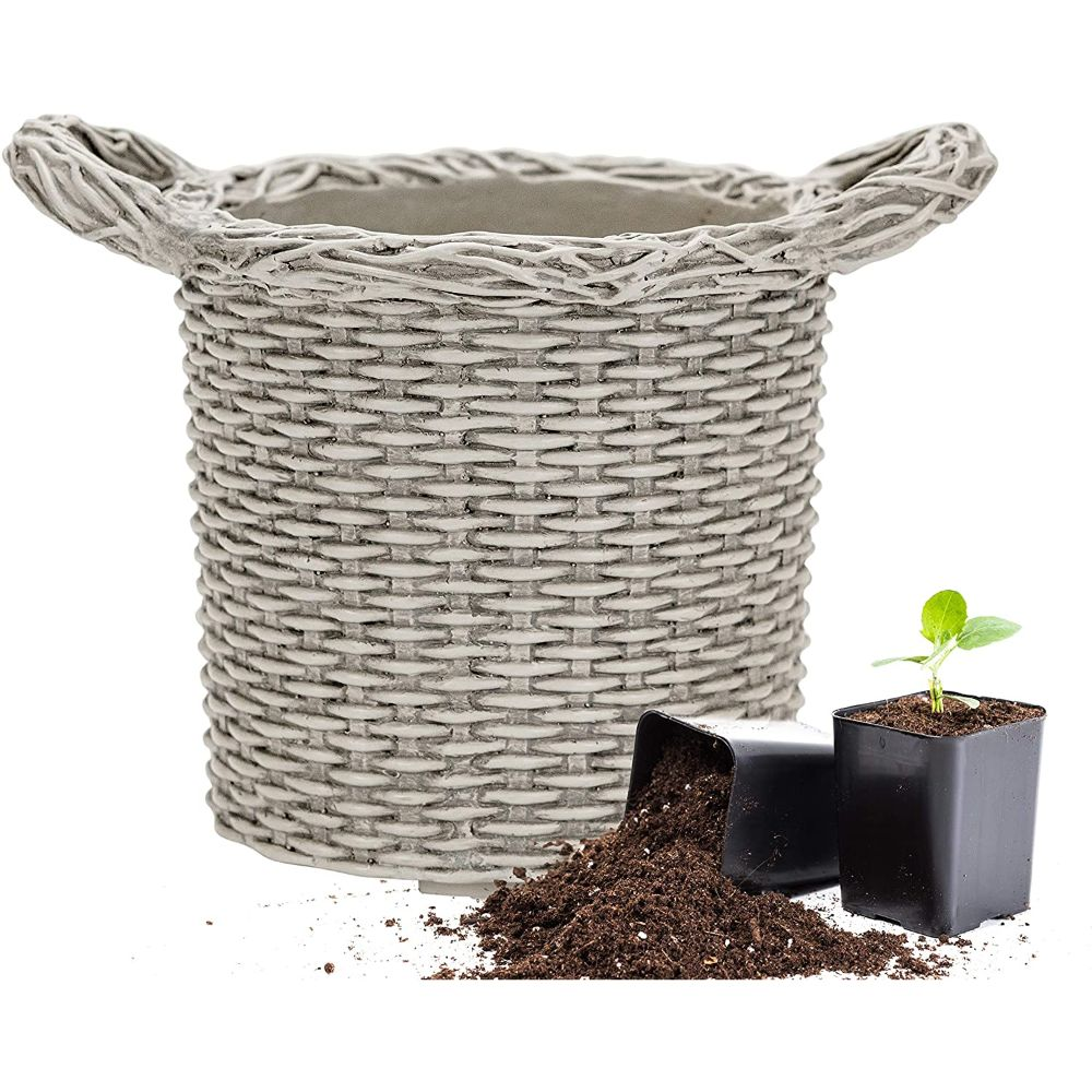 Martha Stewart Faux Wicker Planter