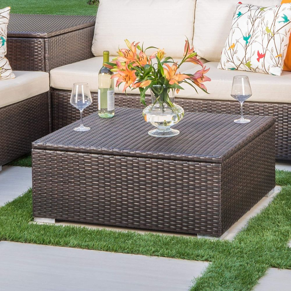 Outdoor Wicker Coffee Table