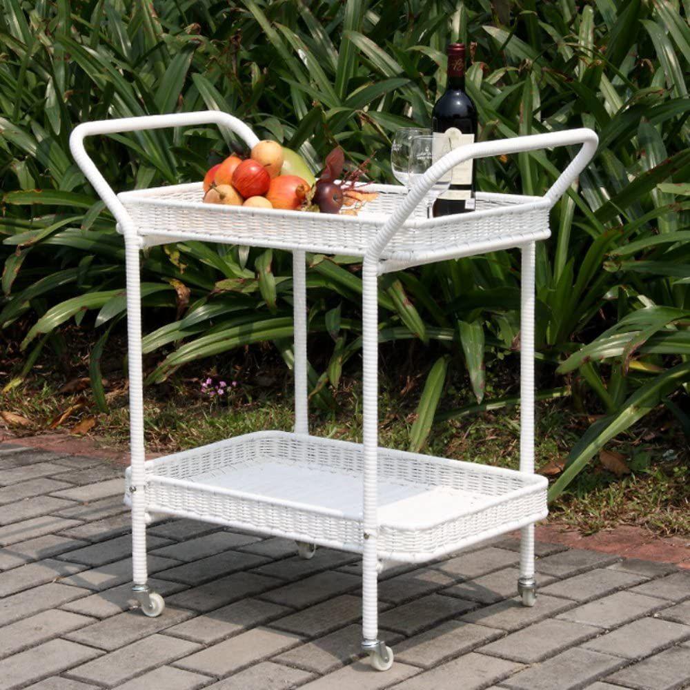 Wicker Serving Cart
