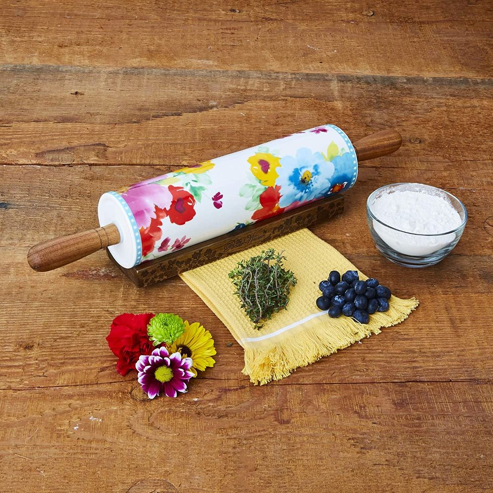Ceramic Rolling Pin with Base