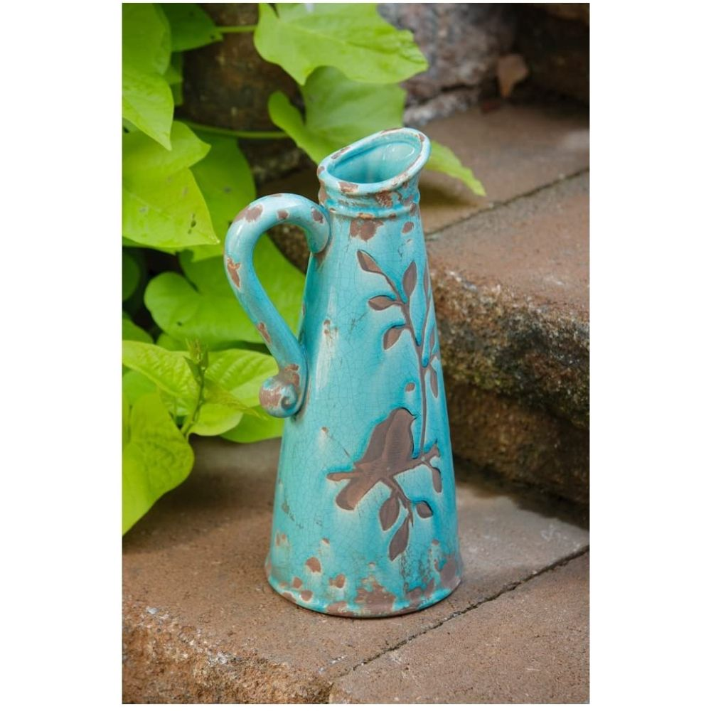 Birds 'n Branches Pottery Pitcher