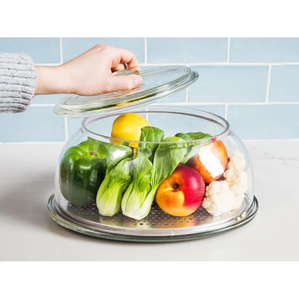 Glass Tabletop Produce Saver
