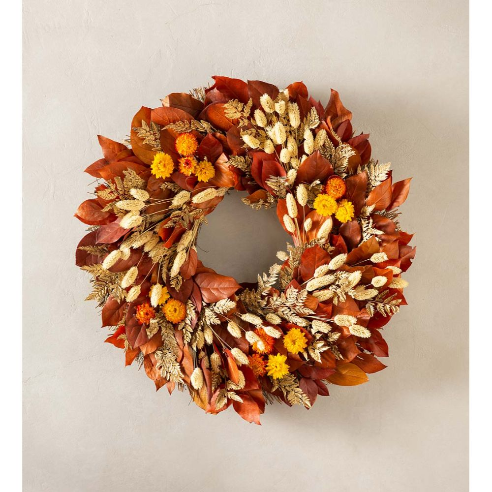 Leaves and Flowers Wreath