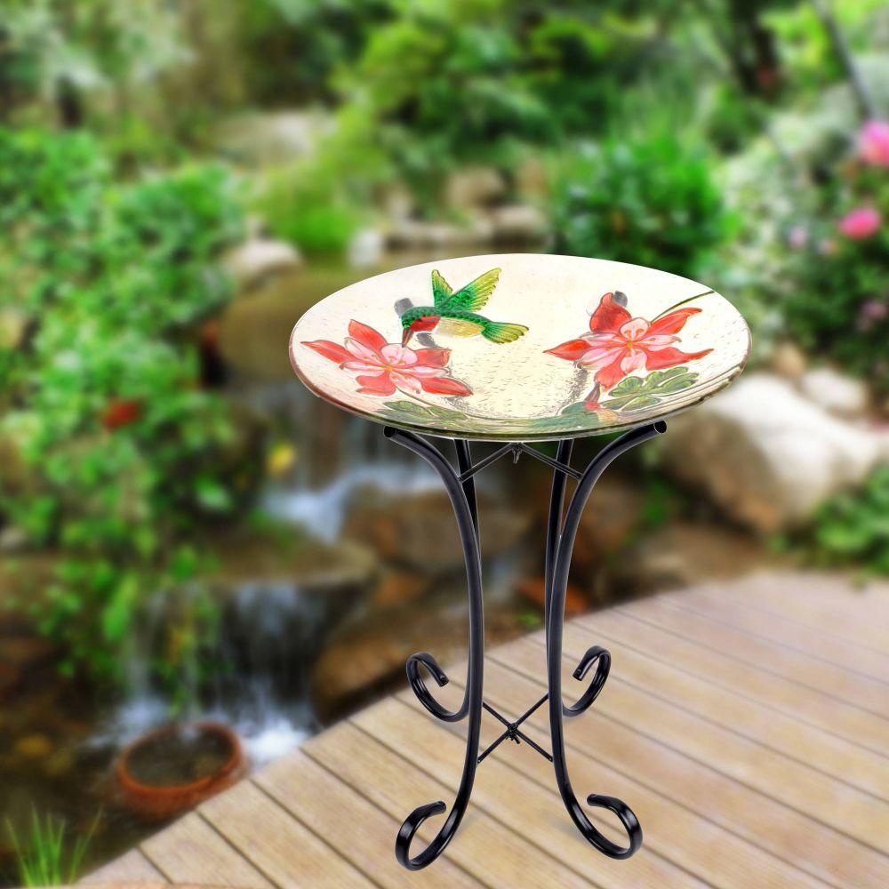BH&G Glass Birdbath