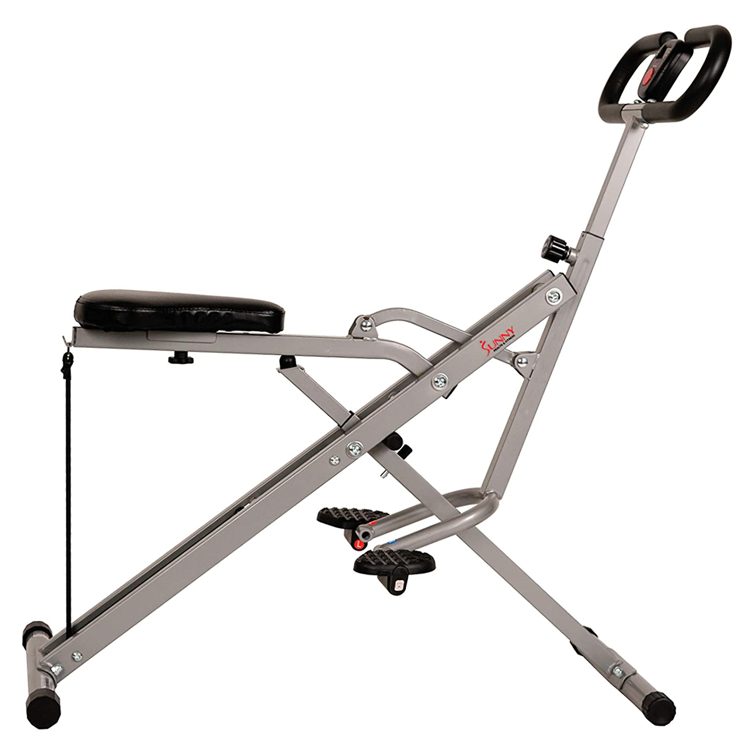 Sunny Health & Fitness Squat Assist Row-N-Ride Trainer