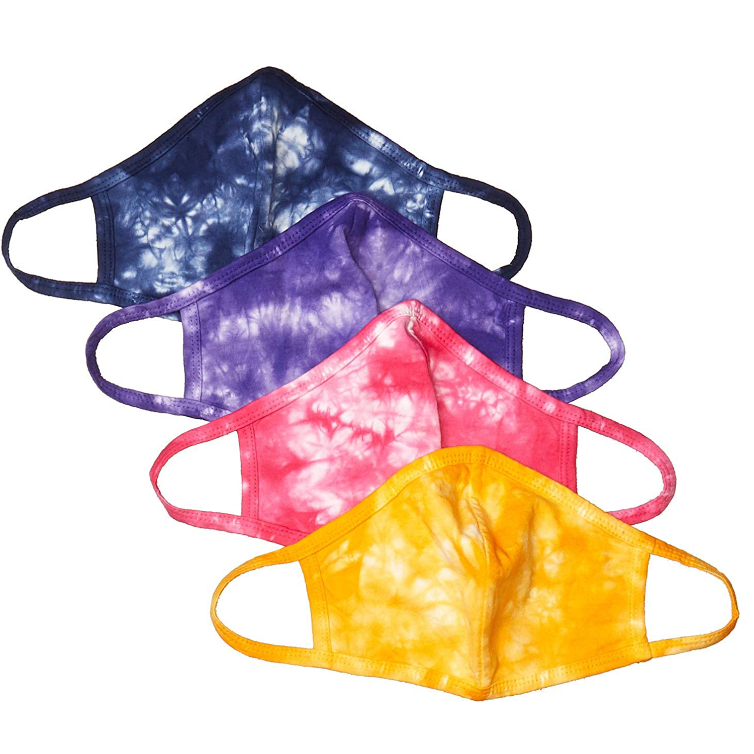 Tie Dye Blues Double Layer Face Mask