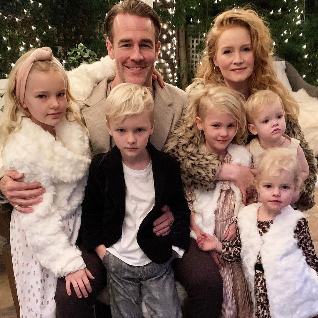 James Van Der Beek and fam