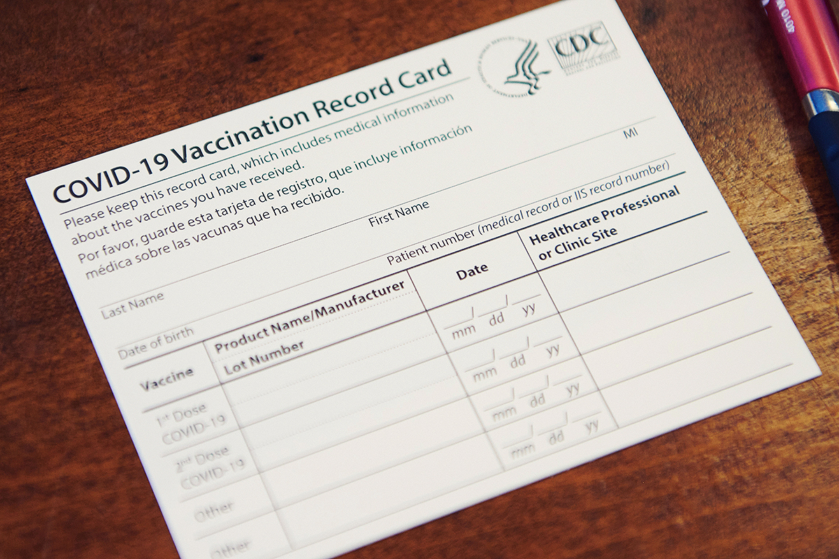 COVID-19 Vaccination Cards