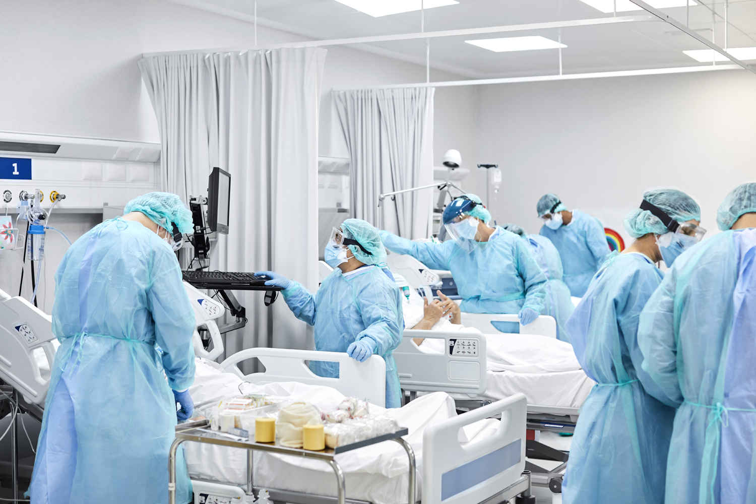 Healthcare Coworkers Working in ICU During COVID-19