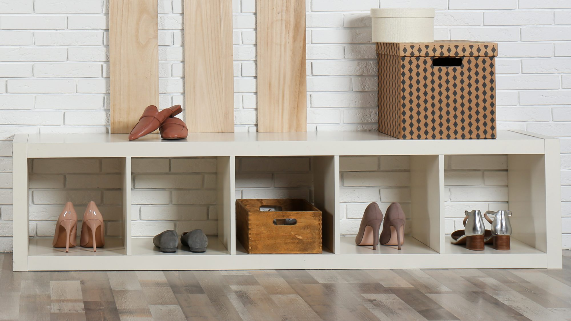 habits for sanitary home, leave shoes in entryway storage rack