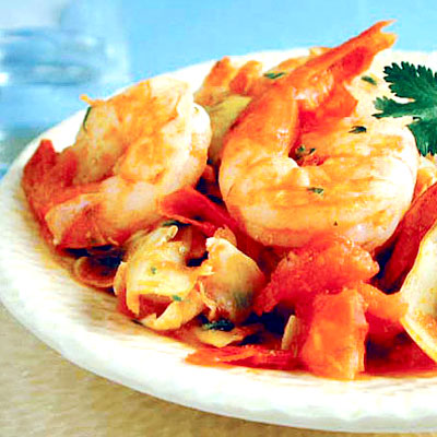 Scrumptious Shrimp With Artichokes