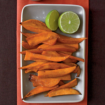 Chipotle-Glazed Sweet Potato Spears with Lime