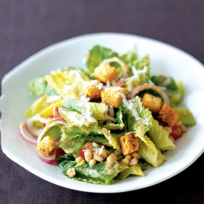 Creamy Caesar Salad with White Beans