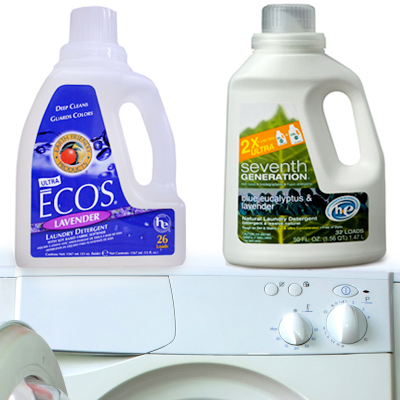 Opt for more natural laundry detergent