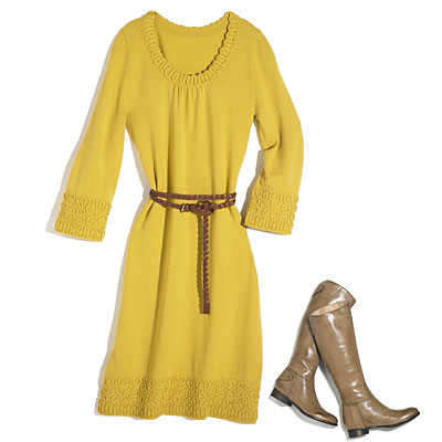yellow-dress-boots