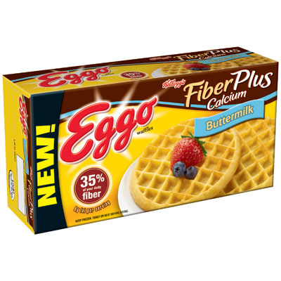 No. 3 Eggo Fiber Plus Calcium Buttermilk Waffles