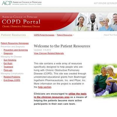 American College of Physicians COPD Portal