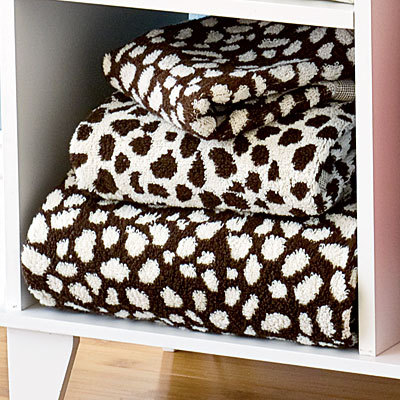 West Elm Organic Snow Leopard Towels