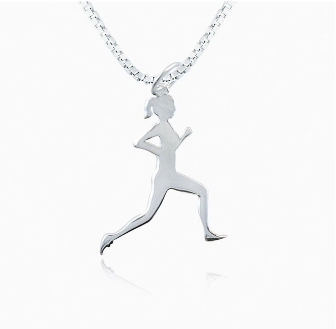 running silhouette necklace