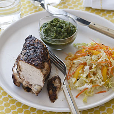 Chimichurri 'Cued Chicken