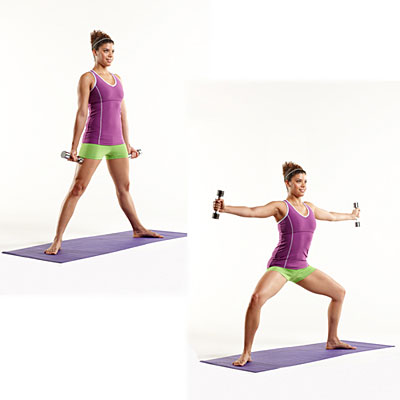 Lower body: Plie with lateral fly