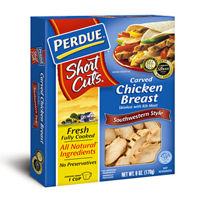 Perdue Short Cuts Carved Chicken Breast, Southwestern Style Cooked Chicken Strips