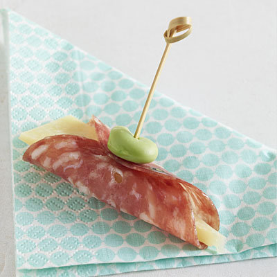 Salami With Manchego Cheese