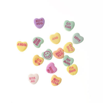 Tiny NECCO Sweethearts Conversation Hearts