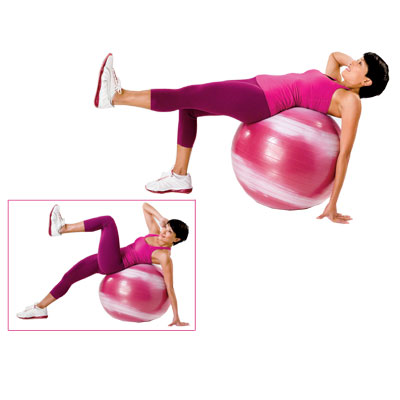 Oblique driving-knee crunch