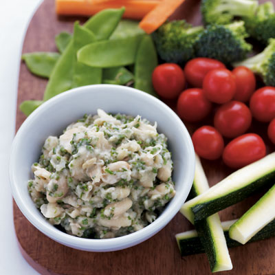 White Bean and Herb Hummus With Crudités