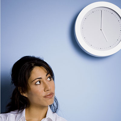 woman-watching-clock