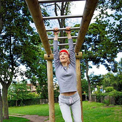woman-monkey-bars