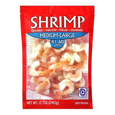 Frozen ready-to-cook shrimp