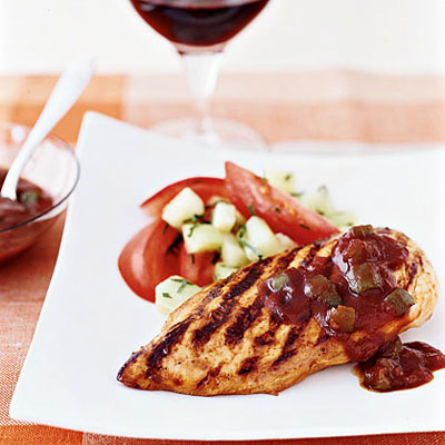 Grilled Chicken With Speedy BBQ Sauce