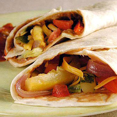 Quick Roasted-Vegetables Fajitas