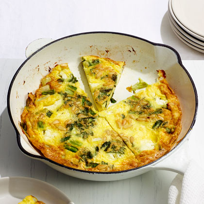 Scallion, Mint and Feta Omelet
