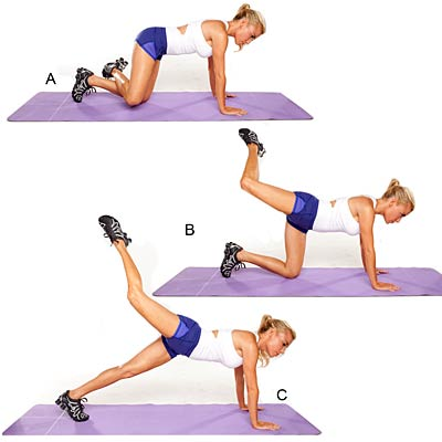 Attitude lift with hamstring stretch