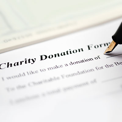 Donations to a cause