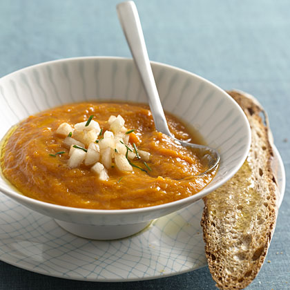 Savory Squash, Carrot, and Ginger Soup