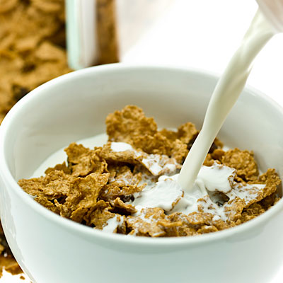 Whole-Grain Cereal and Skim Milk