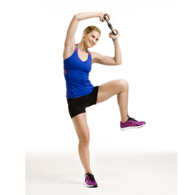 Core: Circle arm squat