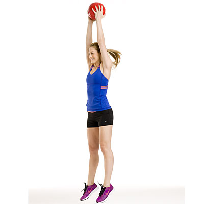 Lower body: Jump shot and squat