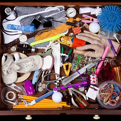 Clean out your junk drawers