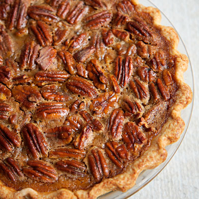 Pumpkin and Caramelized-Pecan Pie