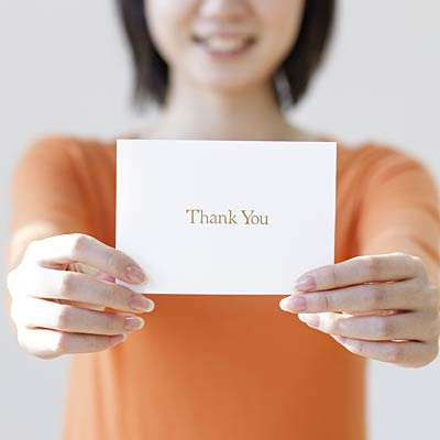 Write mental thank you notes