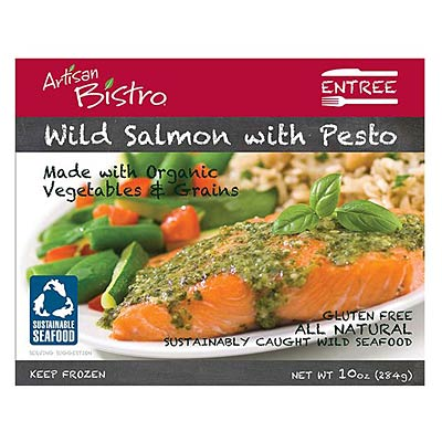 Artisan Bistro Wild Salmon with Pesto