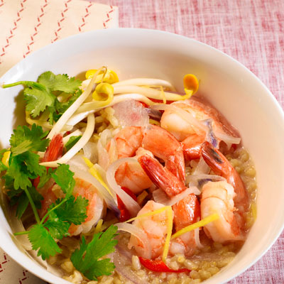 clay-pot-shrimp-brown-rice
