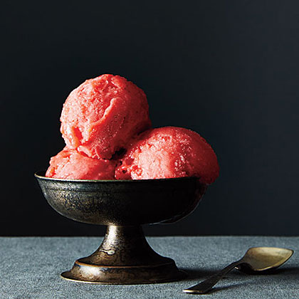Strawberry Lemon Sorbet
