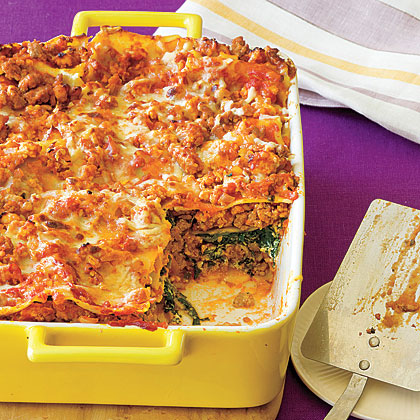 Ultimate Spinach and Turkey Lasagna