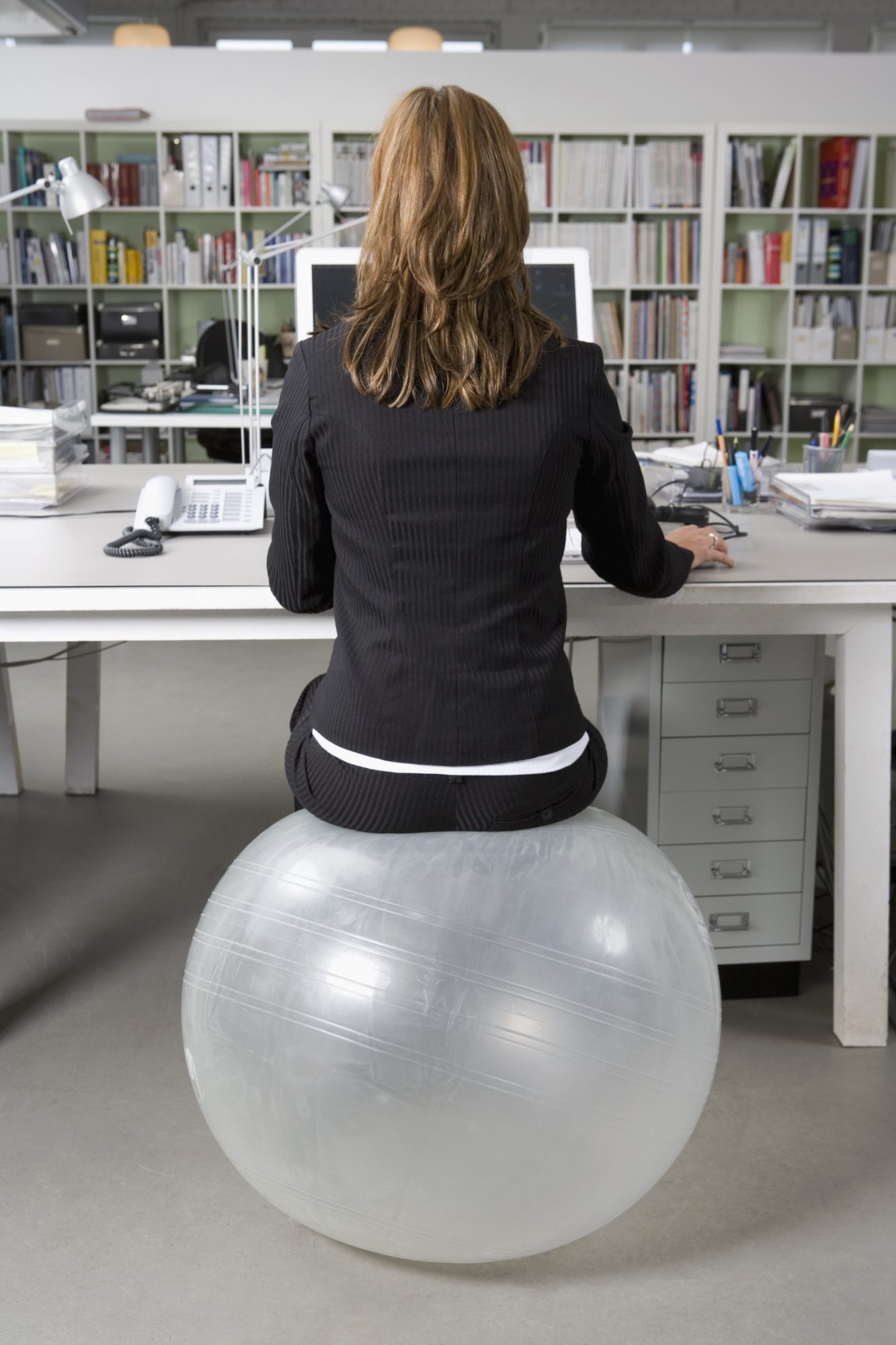 The swap: A desk chair for a fitness ball